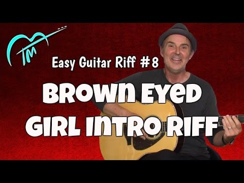 Brown Eyed Girl Intro Lesson Acoustic Guitar - YouTube