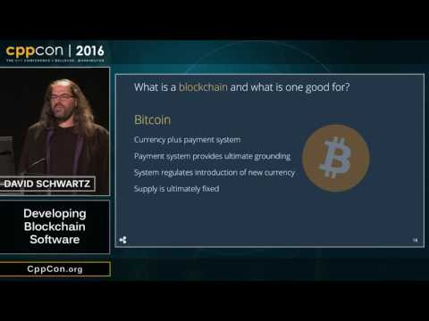 "CppCon 2016: David Schwartz ""Developing Blockchain Software"""