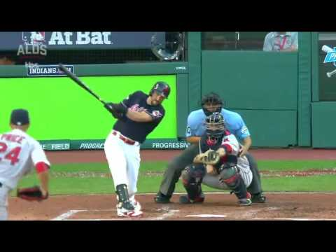 (HD) Lonnie Chisenhall Three-Run Homer off David Price ALDS Game 2