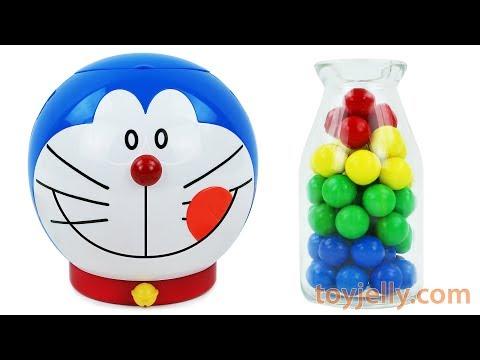 Doraemon Anpanman BubbleGum Surprise Toys Kinder Joy Eggs Play Doh Clay Baby Finger Nursery Rhymes