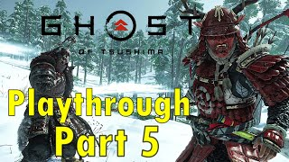 My First Playthrough Ever | Ghost of Tsushima Hard Difficulty | Day 5 Almost done