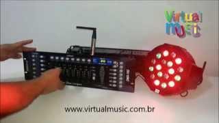 Antena Wireless Dmx 512 Mesa Dmx Refletor - www.virtualmusic.com.br
