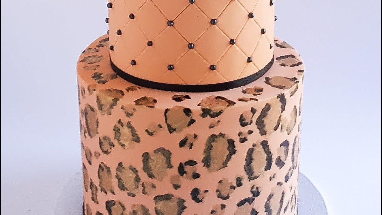 Leopard Print Cake Tutorial Rosies Dessert Spot Youtube