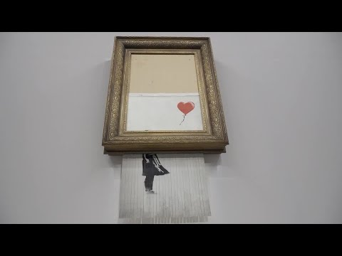 Shredded Banksy artwork returns to auction at Sotheby's