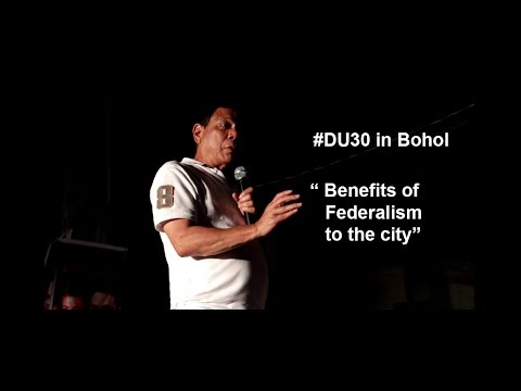 Duterte Speaks - Benefits of Federalism to the Cities