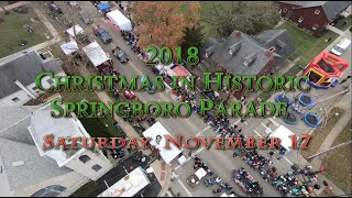 The 2018 Christmas in Historic Springboro Parade