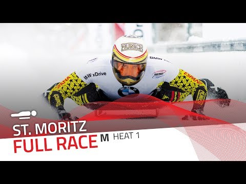 St. Moritz | BMW IBSF World Cup 2017/2018 - Men's Skeleton Heat 1 | IBSF Official