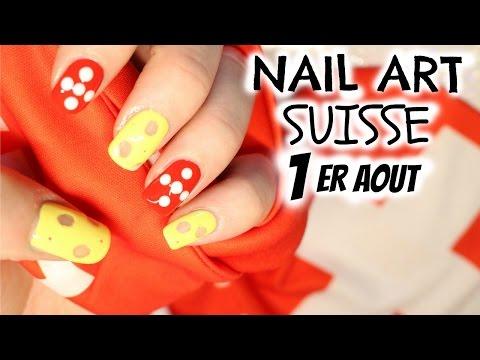 Tuto Nail Art 1er Août - Fête Nationale Suisse - Facile et peu de matériel!