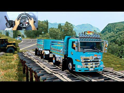 🔴 วิ่งรถไปขึ้นดิน วิถี 6 ล้อพ่วง HINO 500 - Euro Truck Simulator 2 #209