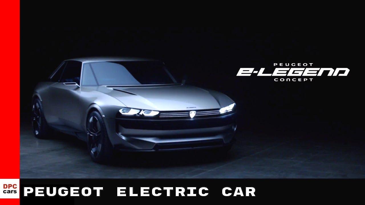 Peugeot E Legend Concept Electric Car Youtube