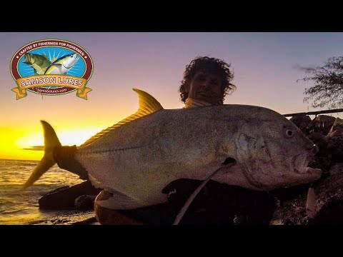Shore Fishing For GT With Lures - Part 1 (Giant Trevally)