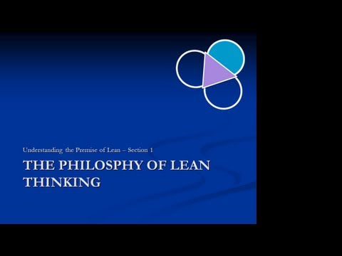 Lean Philosophy Section 01: Introduction to Lean Thinking