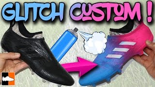 Custom blue glitch adidas boots - how to