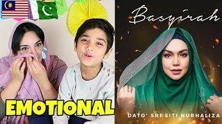 Download lagu Pakistani Boy Reacts To BASYIRAH - Dato' Sri Siti Nurhaliza | Emotional