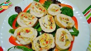 Ну, оОчень вкусные - Куриные рулетики!(Куриные рулетики с сыром, грибами и яйцом - для приготовления 5 рулетиков понадобится: 5 куриных грудок, 5..., 2014-03-19T20:20:53.000Z)