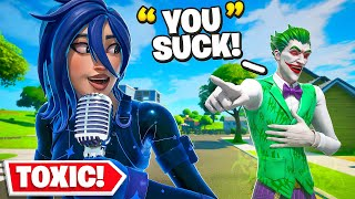 I GIRL Voice Trolled the Most TOXIC Pro Fortnite Player..