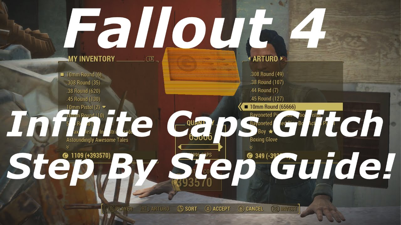 Fallout 4: Infinite Caps and Materials Glitch on PS4, PC and Xbox