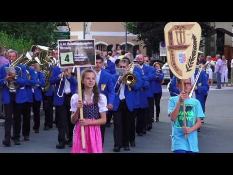 4. Int. Musikkapellentreffen in Kirchberg Tirol 2017 - Einzug zum Festzelt bei der arena365