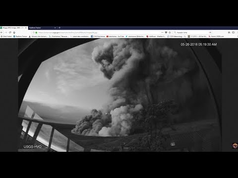 5/26/2018 -- Large blast in Hawaii at Kilauea's crater -- Earthquake update -- pressure spreads