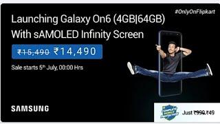 Flipkart New launch - Samsung galaxy on6 mobile full details