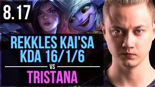 Rekkles - KAI'SA vs TRISTANA (ADC) ~ KDA 16/1/6, Legendary ~ EUW Challenger ~ Patch 8.17