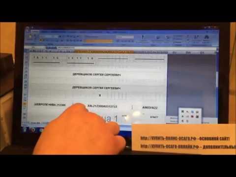 Заполнение и распечатка полиса  бланка ОСАГО на принтере в домашних условиях