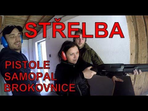 Střelba: pistole, samopal, brokovnice.