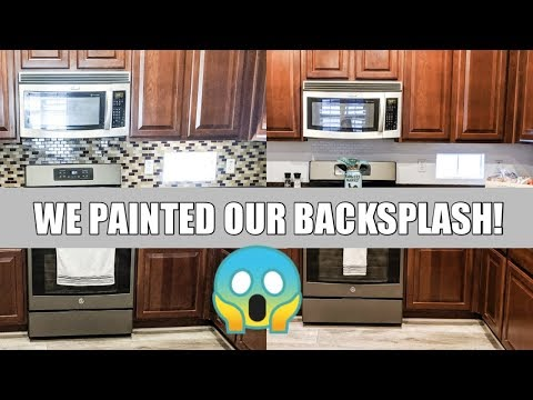 HOW TO PAINT YOUR BACKSPLASH / BEFORE & AFTER / KITCHEN REMODEL