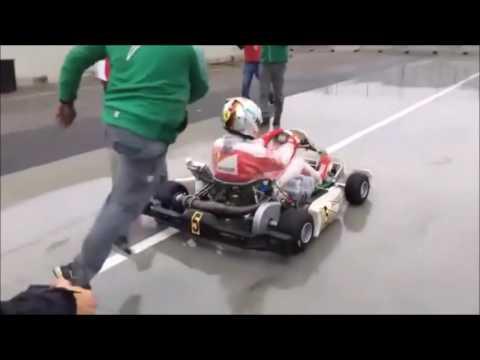 Sebastian Vettel test go kart