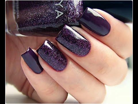 Дизайн ногтей сливовый цвет