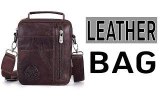 High Quality Genuine Cowhide Leather Bags For Men - Men Messenger Bag