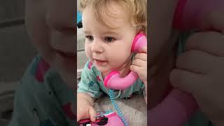 Hello ABCD😊❤️💕||cute baby talk on phone❤️💕