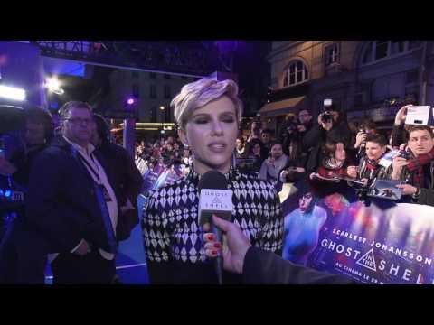 Ghost In The Shell Paris Premiere Interview - Scarlett Johansson