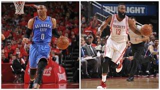 Westbrook (47/11/9) vs Harden (34/8/4) Game 5 Duel in Houston | April 25, 2017