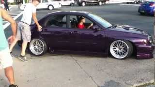 slammed Subaru gets stuck at H2O 2012