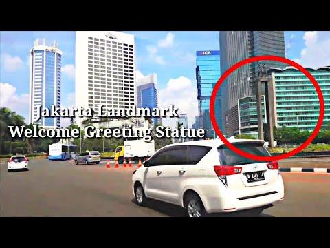 Jalan protokol Sudirman Thamrin Jakarta full    Jakarta Indonesia main street no cut