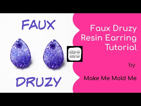 How to Make Faux Druzy Gems with Resin - MAKE ME MOLD ME