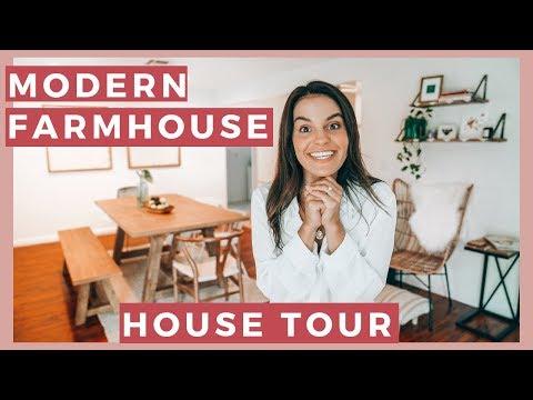 Modern Farmhouse House Tour   Home Transformation