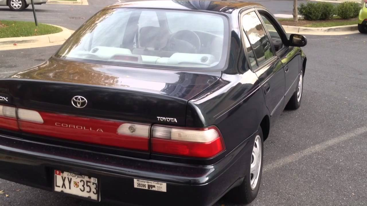 1992 toyota corolla dx youtube. Black Bedroom Furniture Sets. Home Design Ideas