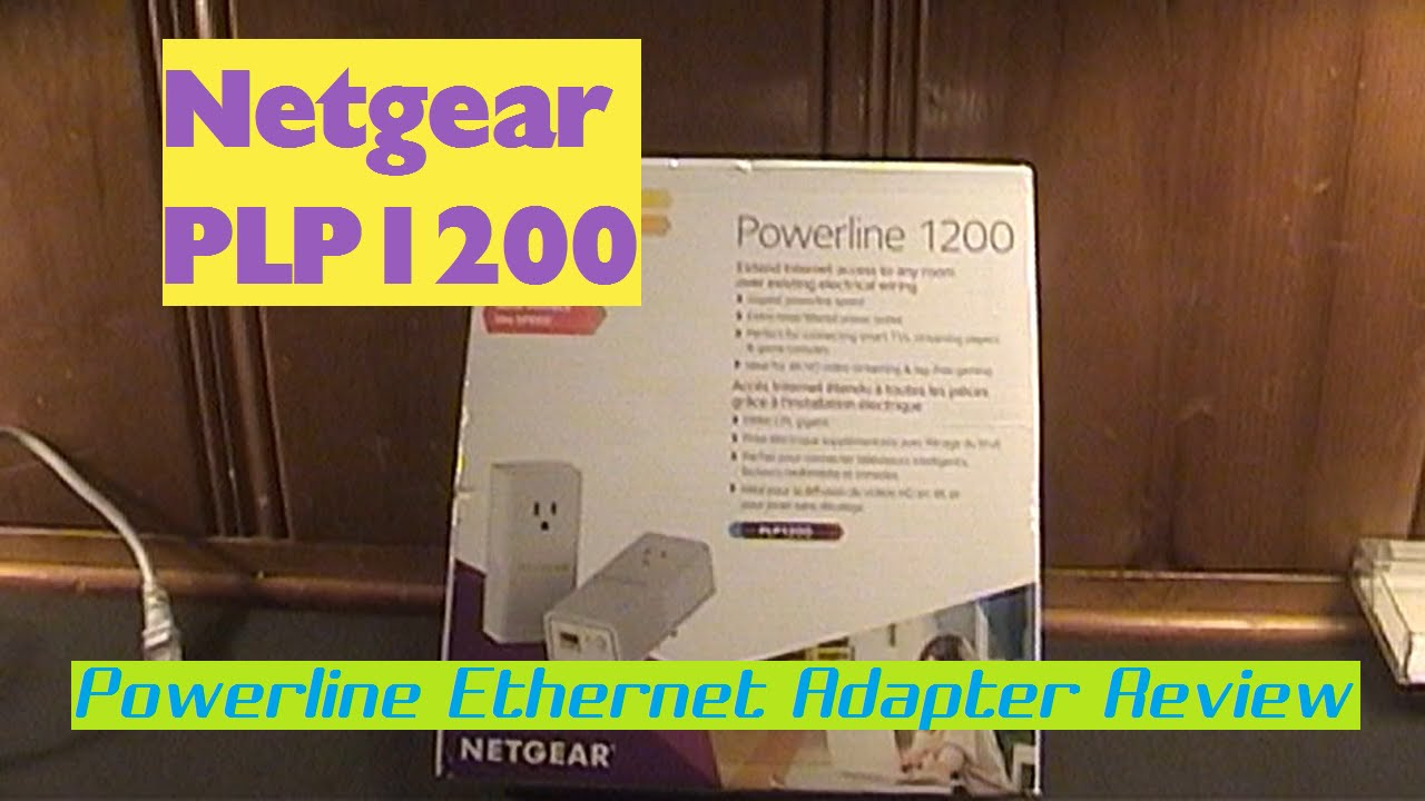 Netgear Plp1200 Powerline Ethernet Adapter Review Speed Tests Adapters An Alternative To Cable Wireless Youtube