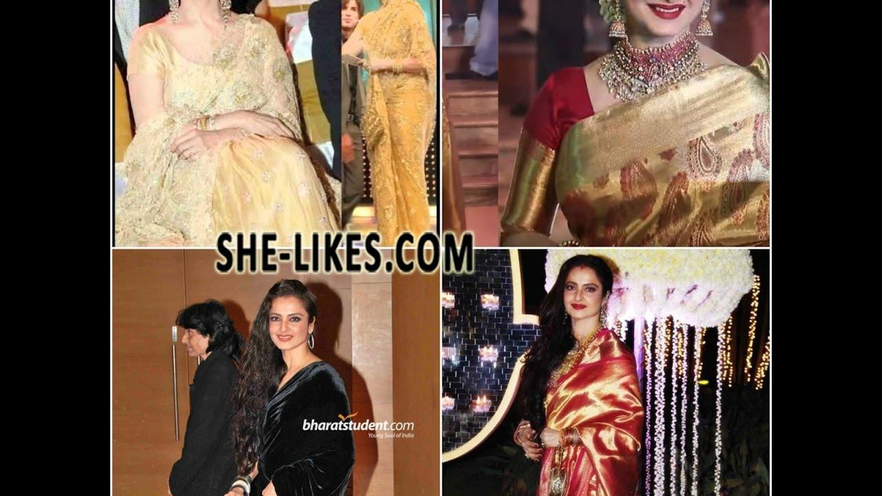 b8f772c1f06 Rekha in Designer Sarees - YouTube
