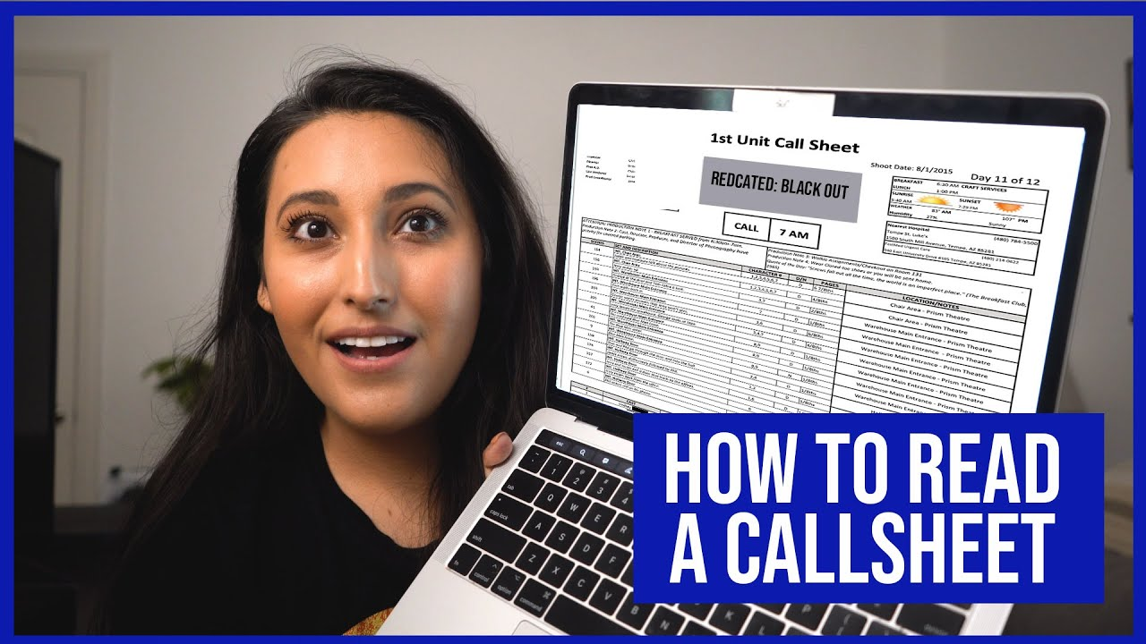 How to Read a Call Sheet
