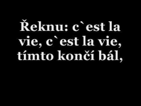 Karel Gott - C'est La Vie - text