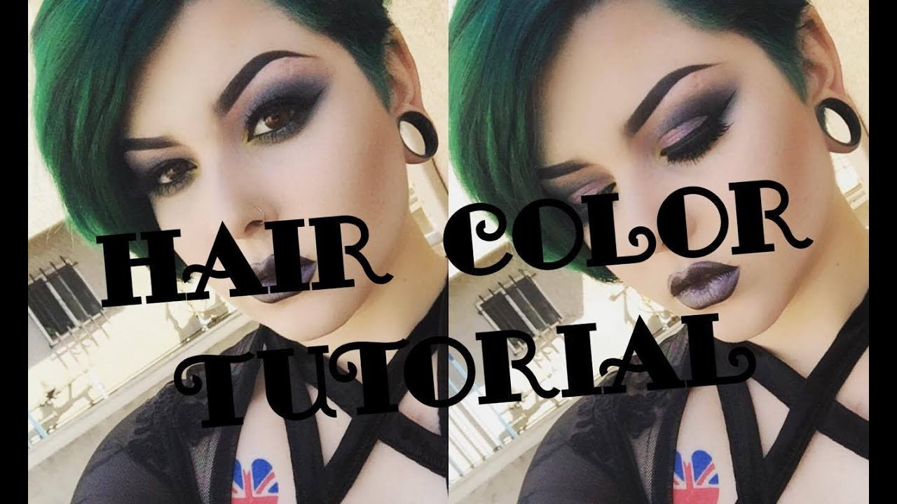 Forest Green Hair Color Tutorial - YouTube