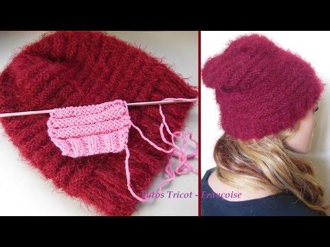 Tutos Tricot bonnet femme côtes 2/2 et point de Godron | Tutoriel côtes 2/2 & Point de tricot Godron