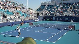 Kyrgios v. Bublik (Court Level View) 60FPS HD Miami Open 2019 R2