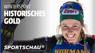 Biathlon-WM: Zum ersten Mal Gold für eine Österreicherin   Sportschau