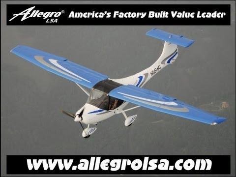 Allegro LSA, Allegro light sport aircraft flight report and aircraft review.