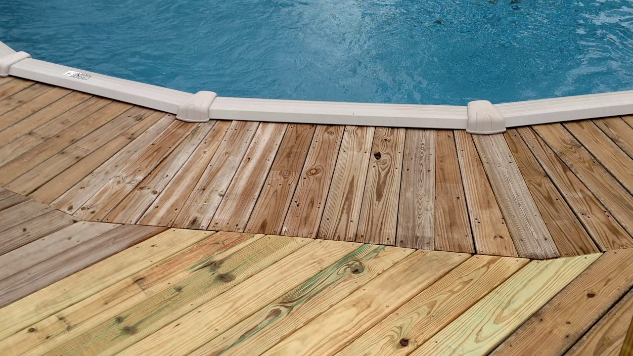 Build deck for above ground pool youtube - How to build an above ground pool ...