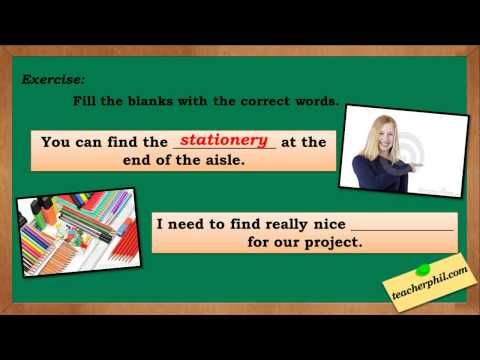 Stationary vs Stationery